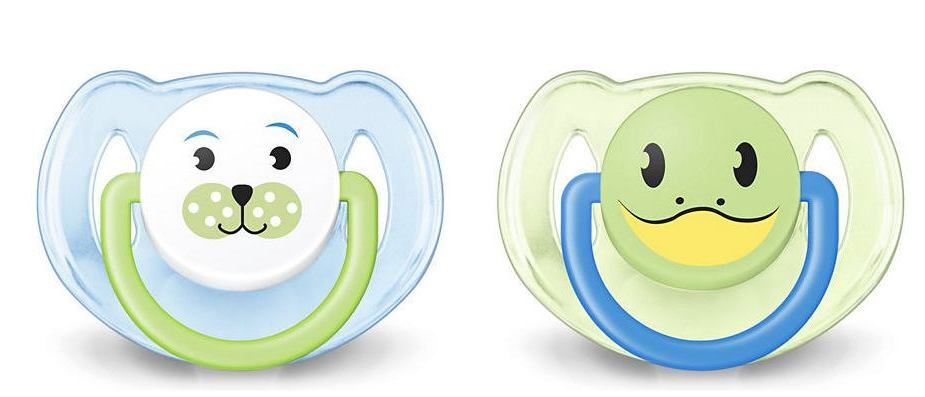 Avent Orthodontic Dynamic Animal Design Dummy Pacifier Slicone Baby Soother Grn