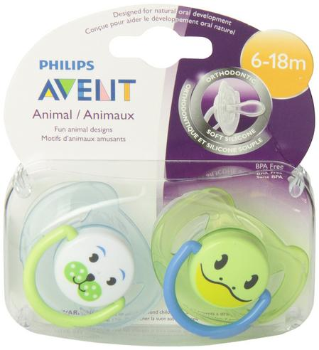 Avent Orthodontic Dynamic Animal Design Dummy Pacifier Slicone Baby Soother Grn Thumbnail 4