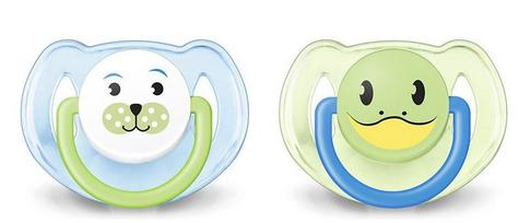 Avent Orthodontic Dynamic Animal Design Dummy Pacifier Slicone Baby Soother Grn Thumbnail 1