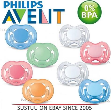 Philips Avent Freeflow Orthodontic Dummy Pacifier Baby Silicone Teat Soother 2PK Thumbnail 1