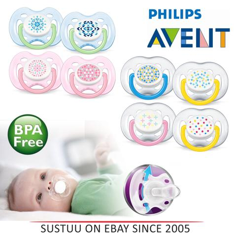 Avent Infant Orthodontic Extra Freeflow Dummy Pacifier Contemporary Baby Soother Thumbnail 1