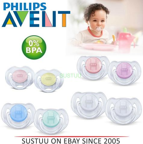 Philips Avent Orthodontic Pacifier Baby Dummy Translucent Silicone Soother Thumbnail 1