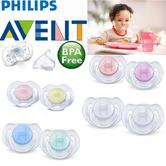 Avent Dynamic Orthodontic Pacifier Dummy Translucent Silicone Baby Soother 2PK