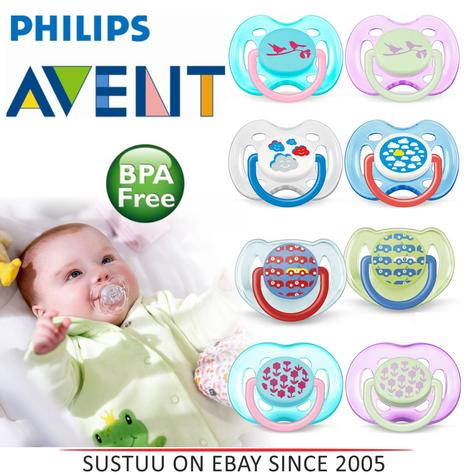 Philips Avent Orthodontic Pacifier Dummy Fashion Silicone Teat Baby Soother 0-18 Thumbnail 1