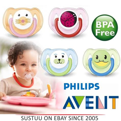 Philips Avent Orthodontic Dummy Animal Design Pacifier Slicone Teat Baby Soother Thumbnail 1