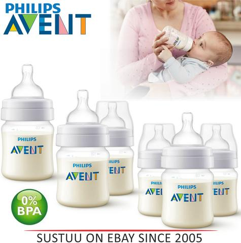 Avent Classic+ Newborn Anti-Colic Baby Feeding Milk Bottle Silicone Teat 125ml  Thumbnail 1