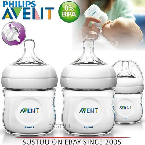 Avent Natural Infant Easy Latch On Anti-Colic Baby Feeding Milk Bottle 125ml  Thumbnail 1