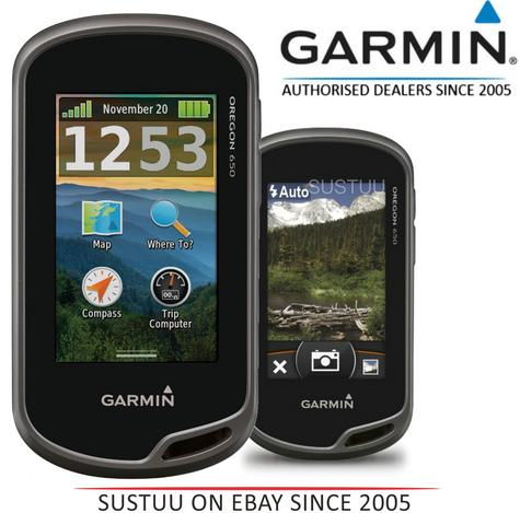 Garmin Oregon 650|Outdoor Handheld GPS|Walking Hiking|Camera|Worldwide Basemap Thumbnail 1