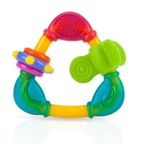 Nuby Spin & Teethe Baby Teether | Non-toxic Movable Fun Colourful Soft Texture | 3m+ Thumbnail 4