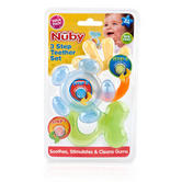 Nuby Baby 3 Step Teething Gel Soothing Teether Toy Set  Baby Infant 3m+ in Mix