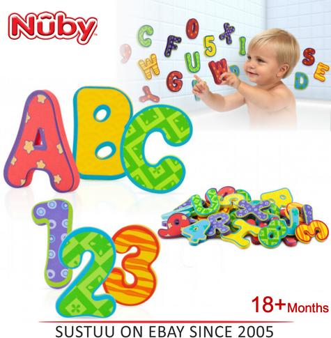 Nuby Baby Bath Time Fun Learning Letters and Numbers Toy 36 Piece Set +18 Months Thumbnail 1