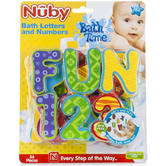 Nuby Baby Bath Time Fun Learning Letters and Numbers Toy 36 Piece Set +18 Months