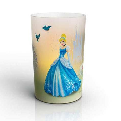 Philips Disney Cinderella Candle LED Kids Low Energy Bed Table Mood Light Lamp Thumbnail 1