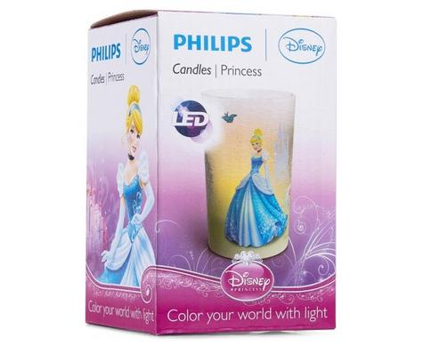 Philips Disney Cinderella Candle LED Kids Low Energy Bed Table Mood Light Lamp Thumbnail 2