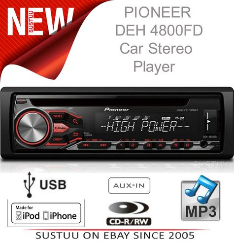 NEW Pioneer Car Stereo RDS Tuner USB Aux-In iPod/iPhone Direct Control & Android Thumbnail 1