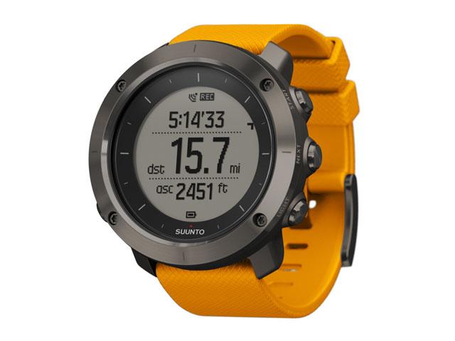 new suunto traverse amber gps outdoor altimeter barometer compass smart watch