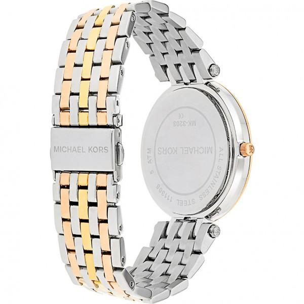 1a2c41e2c4bf Sentinel Michael Kors Darci Ladies Watch│Round Silver Dial│Tri Tone  Bracelet Strap│MK3203