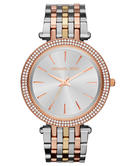 Michael Kors Darci Pave Rose Gold & Silver Tone Ladies Designer Watch MK3203