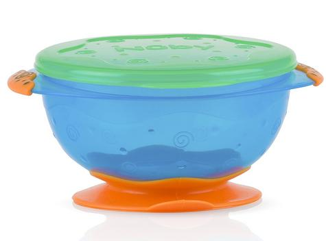 Nuby Stackable Suction Bowls Baby Weaning Spill Proof Food Container with Lids Thumbnail 2