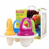 Nuby Baby Garden Fresh Frozen Popsicle Purees Ice Fruitsicles Moulds kid teether