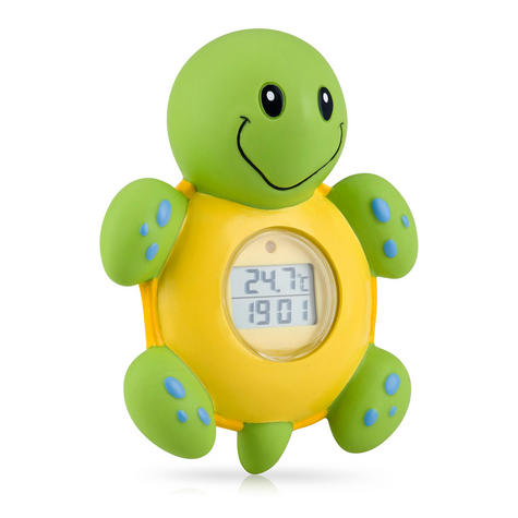 NUBY 3 IN 1 Bath Time Floating Digital Baby Thermometer Clock & Timer Kid's Toys Thumbnail 2