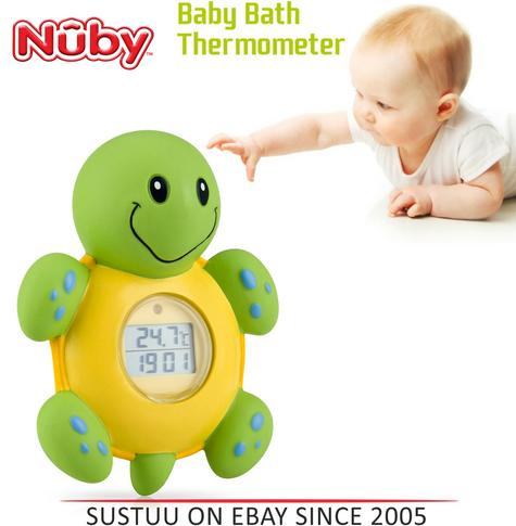NUBY 3 IN 1 Bath Time Floating Digital Baby Thermometer Clock & Timer Kid's Toys Thumbnail 1