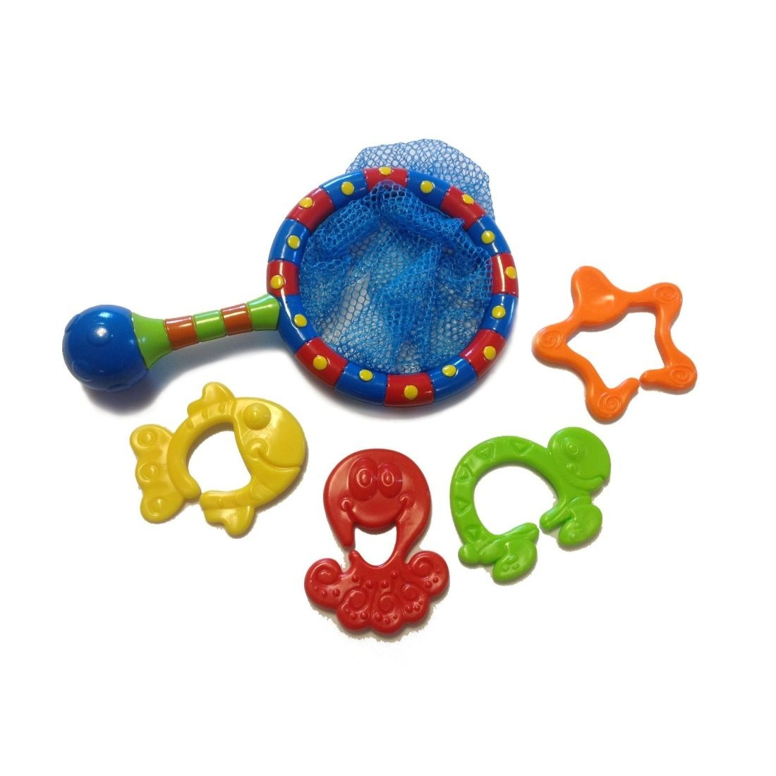 Nuby splash n 39 catch fishing net baby bath time fun for Fishing toy set