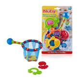 Nuby Splash n' Catch Fishing Net Baby Bath Time Fun Toddler Toy Set BPA Free