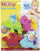 Nuby Baby Bath Time Fun Colourful 16 Piece Set Floating Animal Shape Toy 3 Yrs+