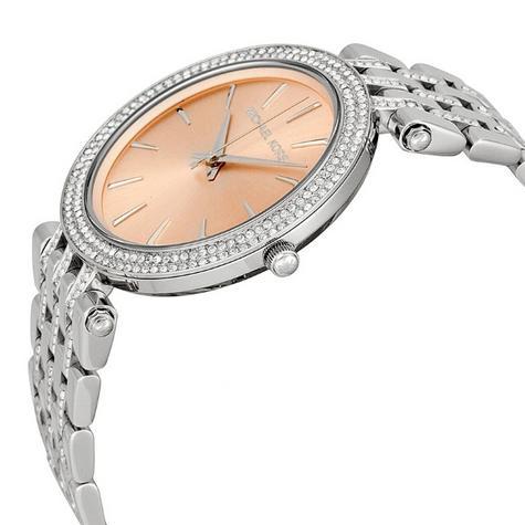 Michael Kors Ladies' Darci Glitz Stainless Steel Bracelet Designer Watch MK3218 Thumbnail 2