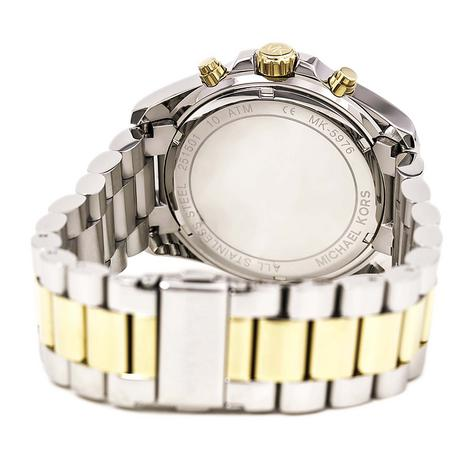 Michael Kors Ladies Blue 2-Tone Dial Bradshaw Chronograph Designer Watch MK5976 Thumbnail 2