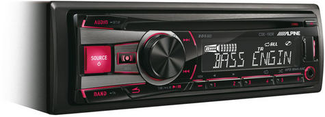 Genuine Alpine CDE 190R Car Media Receiver autoradio CD/USB 2 rca out-display  Thumbnail 2
