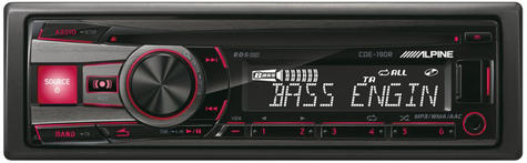 Genuine Alpine CDE 190R Car Media Receiver autoradio CD/USB 2 rca out-display  Thumbnail 5