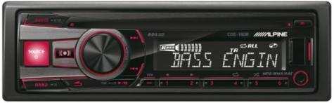 Genuine Alpine CDE 190R Car Media Receiver autoradio CD/USB 2 rca out-display  Thumbnail 5