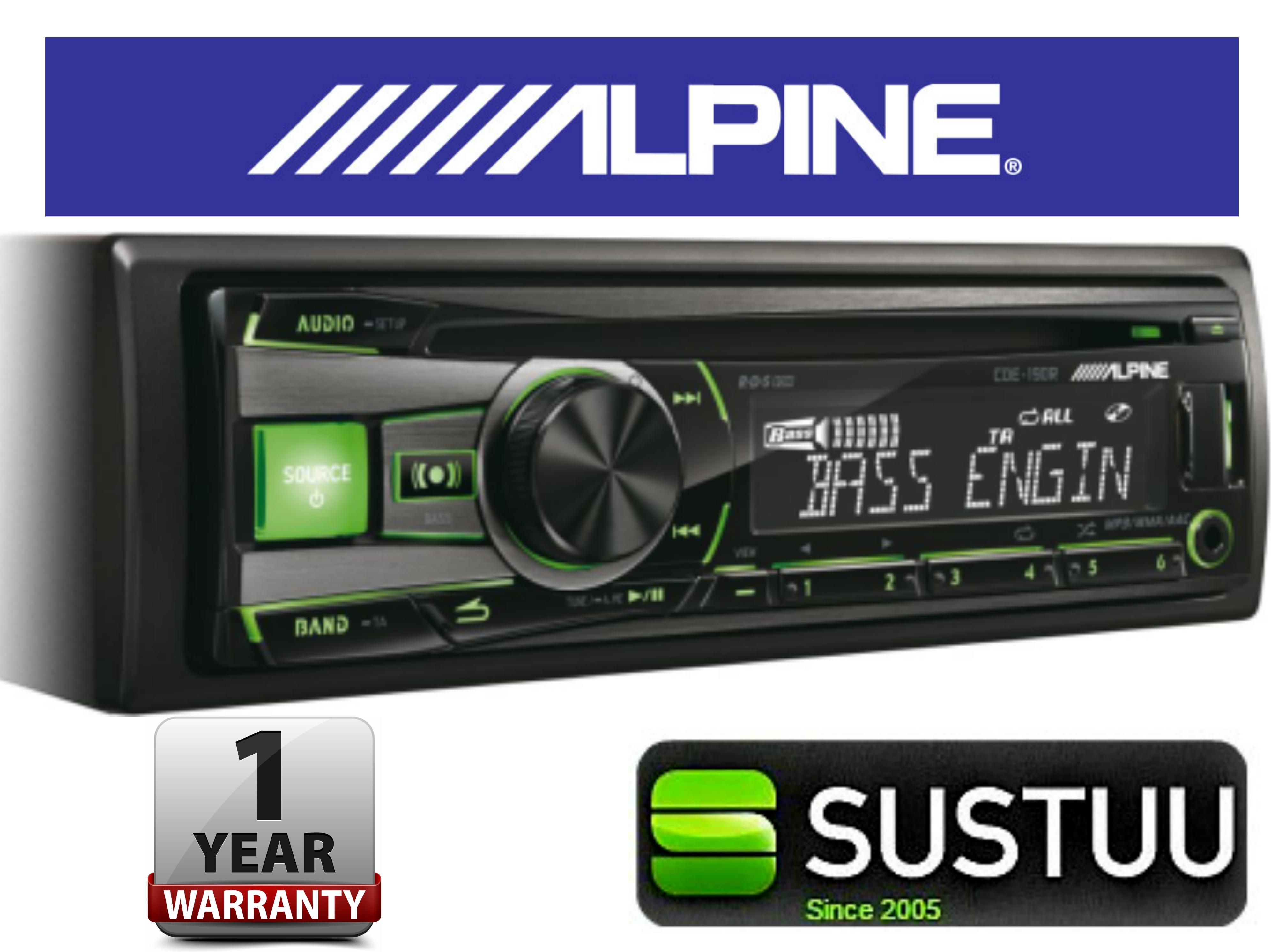 Genuine Alpine CDE 190R Car Media Receiver autoradio CD/USB 2 rca out-display