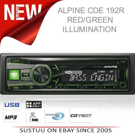 Alpine CDE 192R RADIO/CD/MP3/IPOD/USB/3.5 AUX Car Media Receiver 1YEAR WARRANTY Thumbnail 1