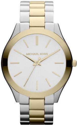 Michael Kors Ladies' Pavé-Embellished Gold-Tone Ultra-Slim Runway Designer Watch Thumbnail 3