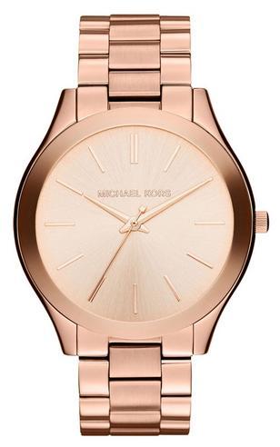 Michael Kors Ladies' Pavé-Embellished Gold-Tone Ultra-Slim Runway Designer Watch Thumbnail 5
