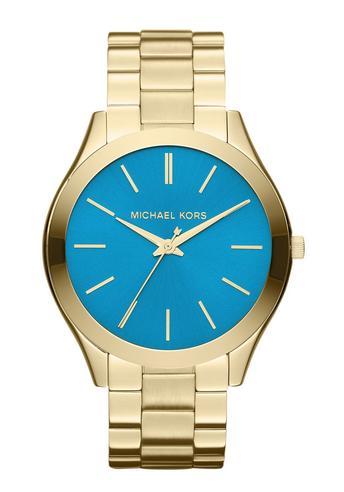 Michael Kors Ladies' Pavé-Embellished Gold-Tone Ultra-Slim Runway Designer Watch Thumbnail 6