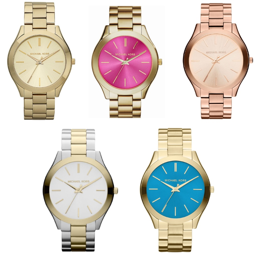 Michael Kors Ladies' Pavé-Embellished Gold-Tone Ultra-Slim Runway Designer Watch