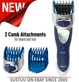 Panasonic ERGS60S?Wet Dry?Men's?Hair?Body?Cordless Rechargeable Trimmer Clipper