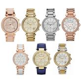 Michael Kors Ladies' Parker Stainless Steel Chronograph Diamond Designer Watches