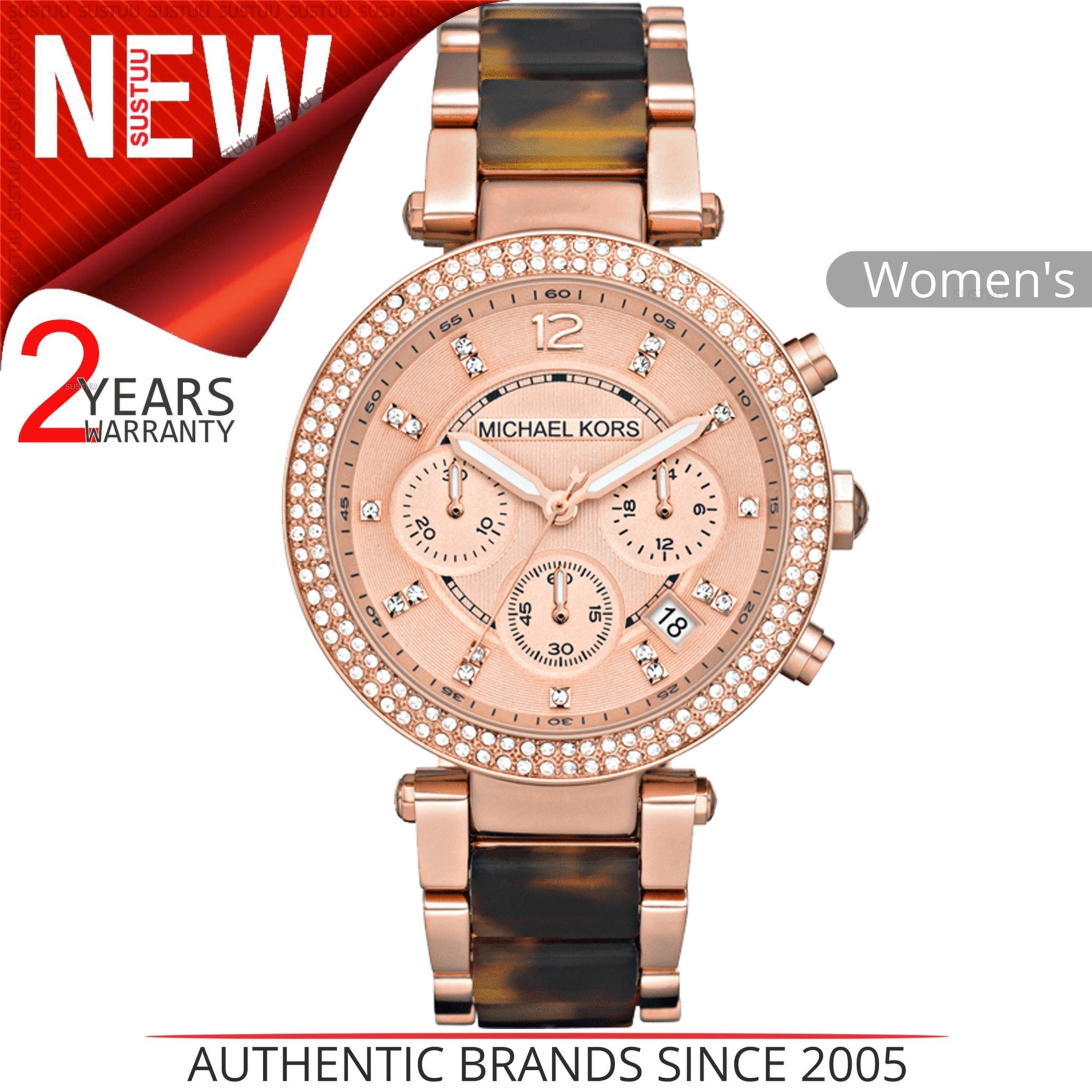 d459d0e6630a Details about Michael Kors Ladies  Parker Brown Tortoiseshell Rose Dial  Designer Watch MK5538