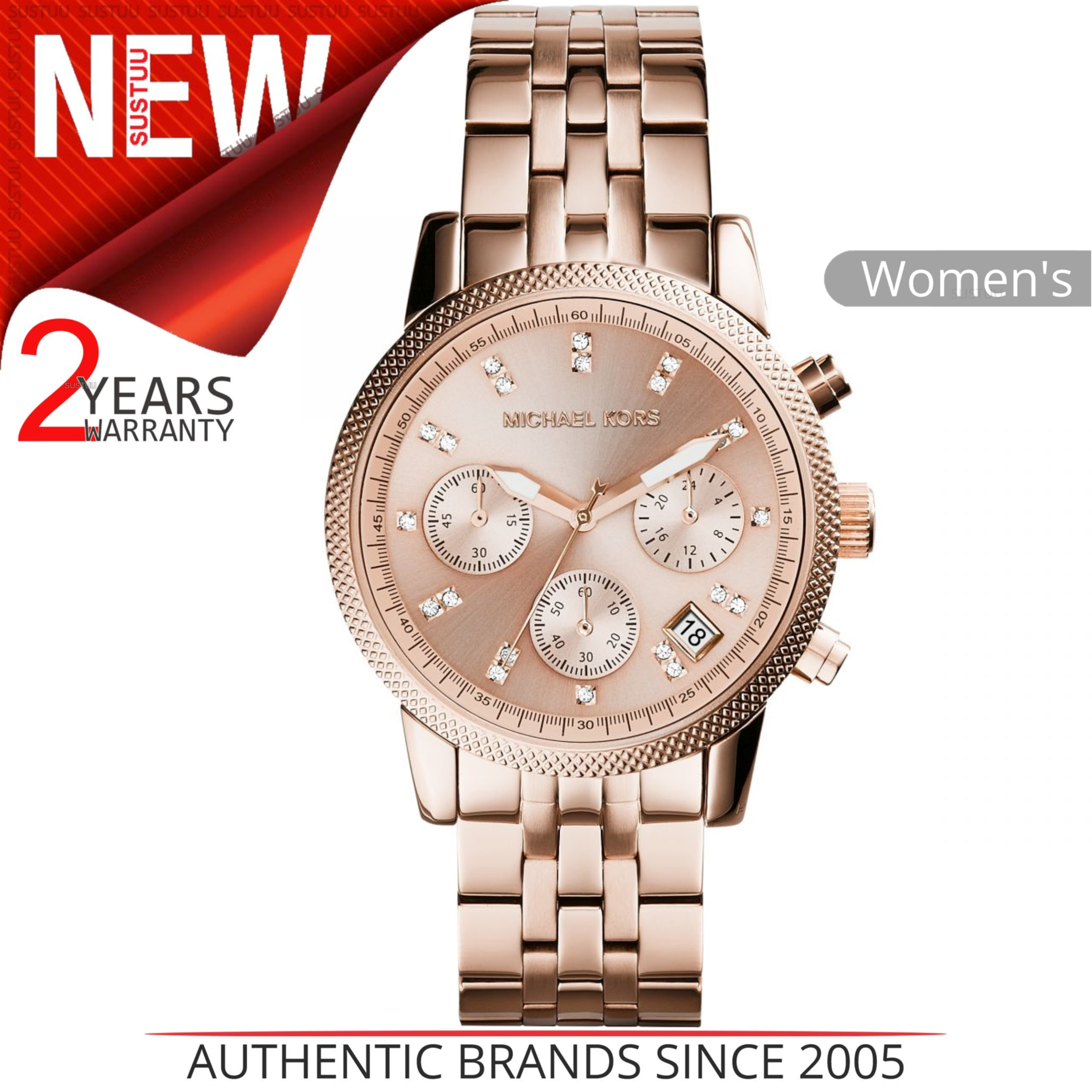 499596659615 Details about Michael Kors Ritz Ladies Watch MK6077│Chronograph Dial│Rose  Gold Bracelet Band