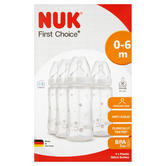 Nuk Baby First Choice Plus Formula Ainti-Colic Bottle silicone Teat 300ml 4 Pack