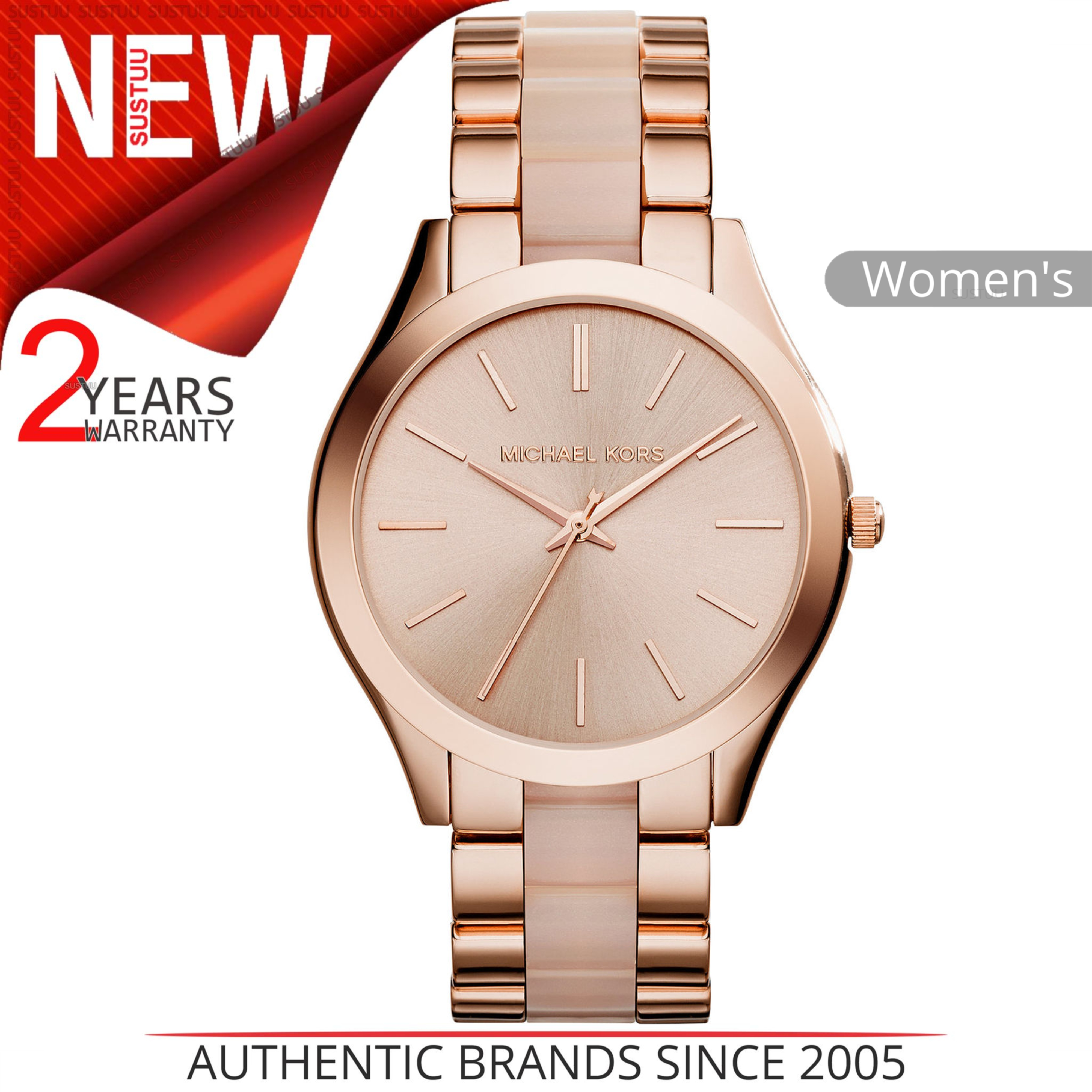 1eb05bf8583a1 Details about Michael Kors Slim Runway Ladies Watch MK4294│Rose Gold Tone│Acetate  Bracelet