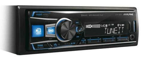 100%Warranty Alpine UTE 92BT Digital Car Media Receiver Mechless Radio/Usb/Aux  Thumbnail 2