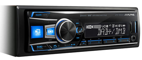 Alpine UTE 93DAB Digital Car Media Receiver Mechless Usb DAB+Bluetooth Front Aux Thumbnail 3