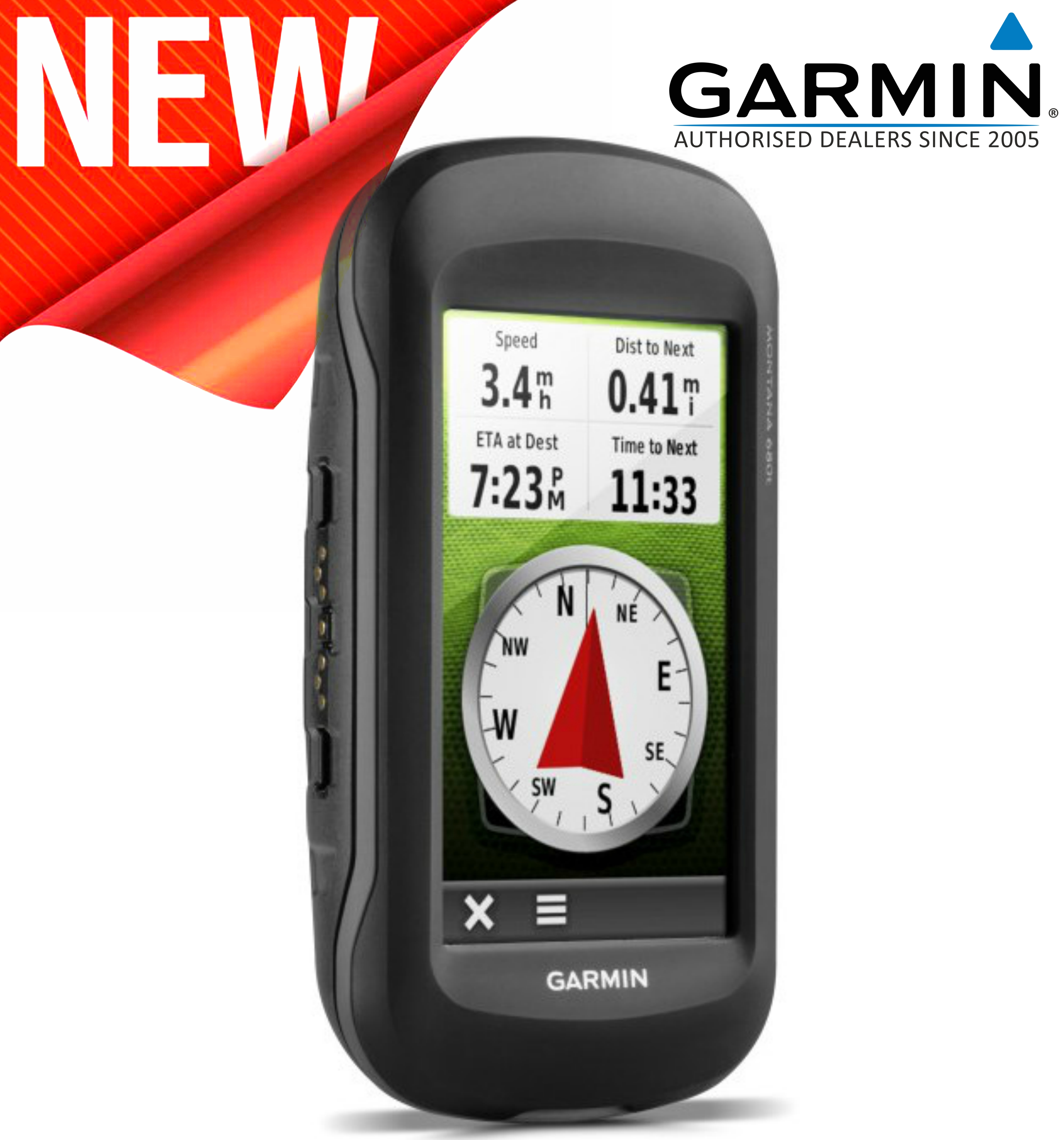 Garmin Montana 680T GPS Handheld Navigator + Europe TOPO Maps & 8MP Camera NEW