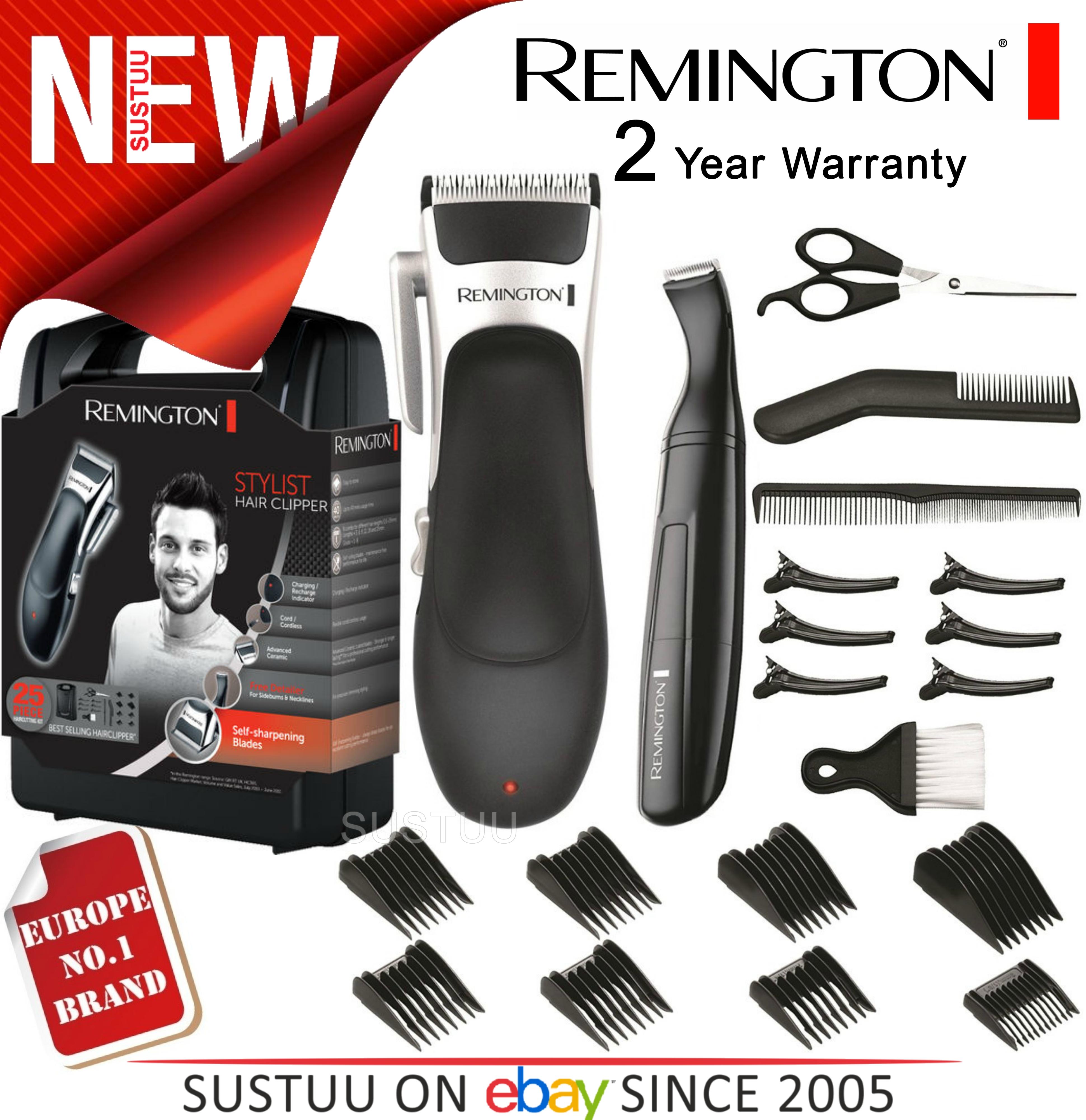 Remington HC366 Men's Ceramic Stylist Hair Clipper/Shaver Kit | Cordless | 25 Piece |